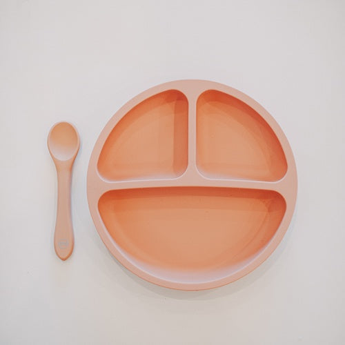 My Little Plate & Spoon Set: Muted