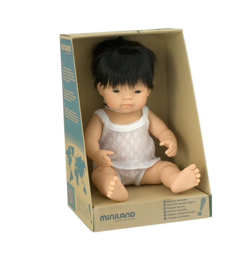 Miniland: 38cm Baby Doll (Asian)