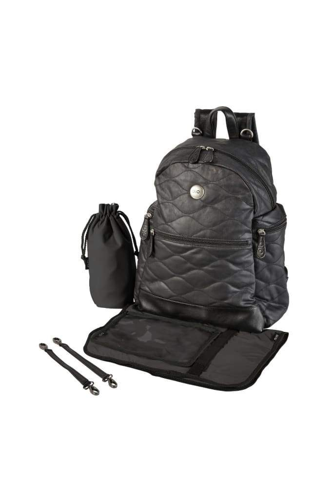 Oi Oi: Nappy Bag Backpack Quilt Black