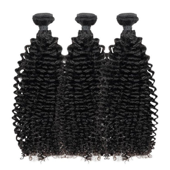 Virgin Brazilian Kinky Curly Bundle Deal - Includes 16