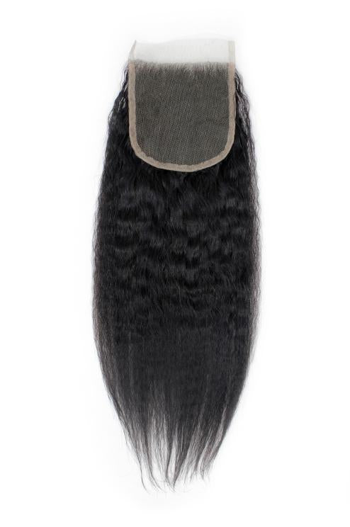 Virgin Brazilian Kinky Straight Lace Closure