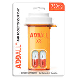 3x Pack Addall XR Brain Booster Supplement - Focus Memory Concentration 750MG - XDeor