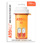 6x Pack Addall XR Brain Booster Supplement - Focus Memory Concentration 750MG - XDeor