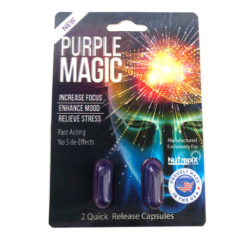 6x NEW Purple Magic Focus Mood Enhancement 6 Card 12 Capsule
