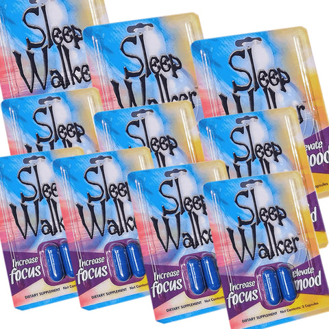 Sleep Walker 20 Capsules Blister Pack Focus & Mood Optimizer - 10 Pack OF 2CT - XDeor