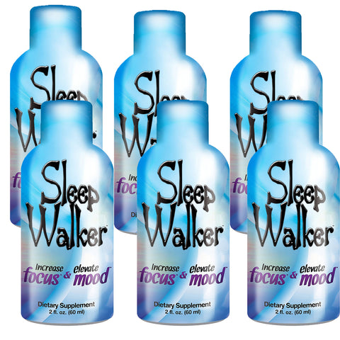 2oz Sleep Walker Shot Focus & Mood Optimizer - 6 Bottles - XDeor