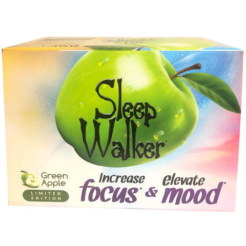 12 Bottles 2oz Sleep Walker Shot Green Apple Focus & Mood Optimizer Full Box