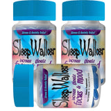 120 Capsules Sleep Walker Mood Enhancer 6 Bottles of 20 Red Dawn Pill Caps - XDeor