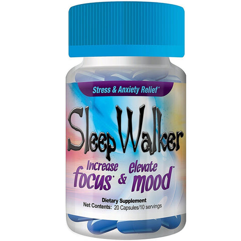 20 Capsules Sleep Walker Mood Enhancer Bottle Red Dawn RXD - XDeor