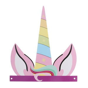 12pcs Birthday Party Colorful Unicorn Hat Supplies Decoration For Kids And Adults