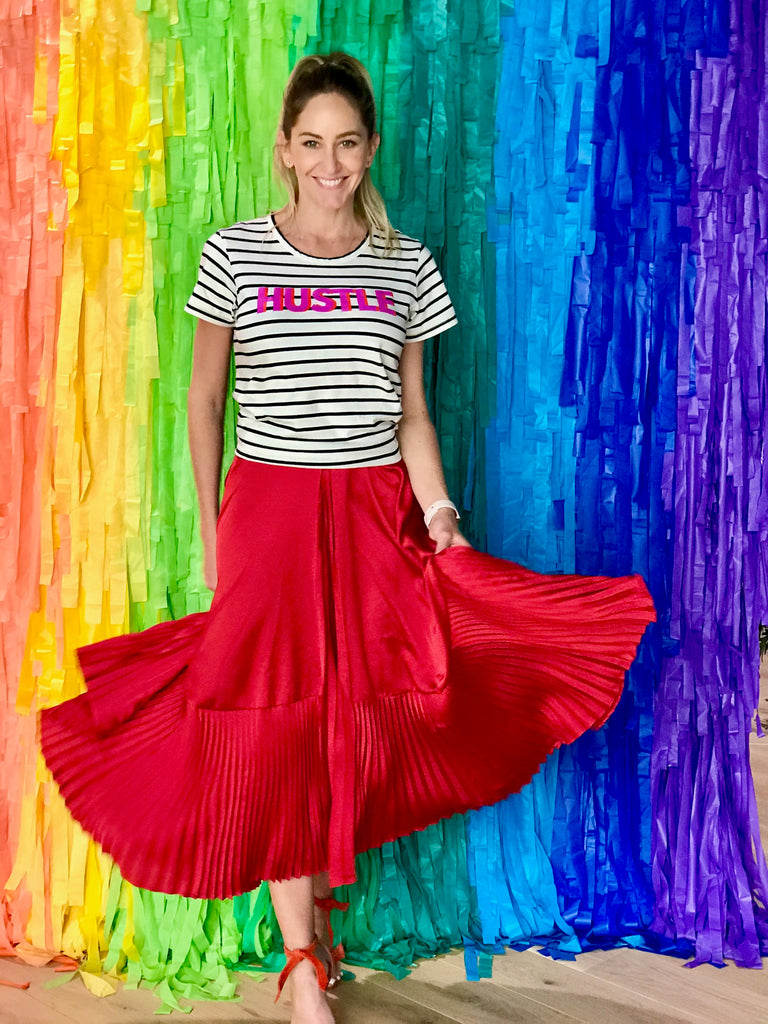 THE DAMN GOOD SKIRT - BRIGHT RED