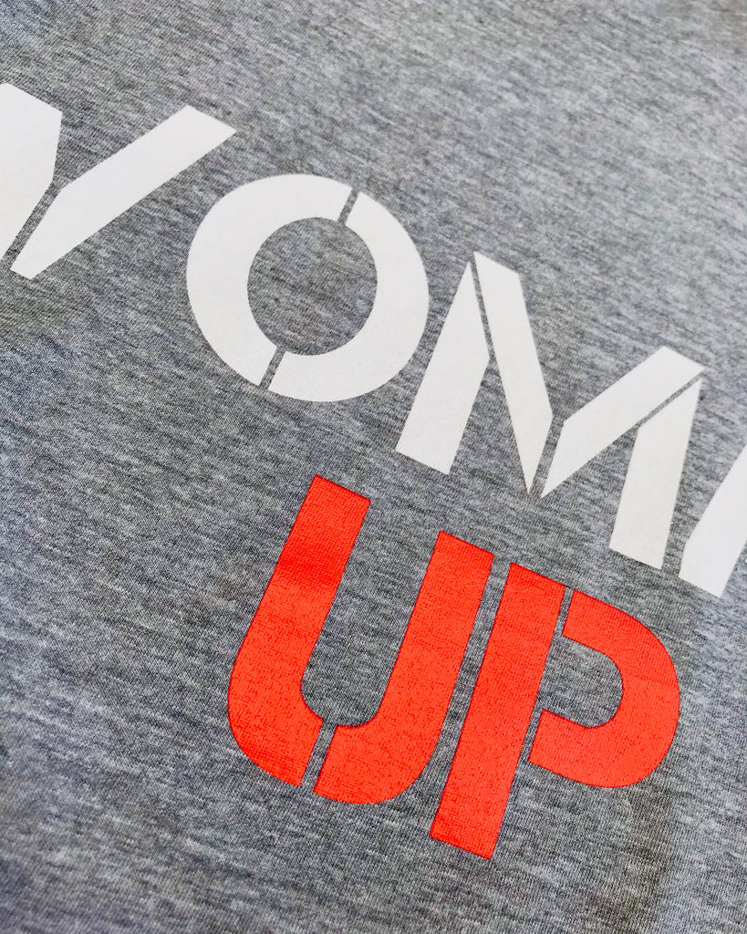 WOMAN UP TANK - MARLE GREY