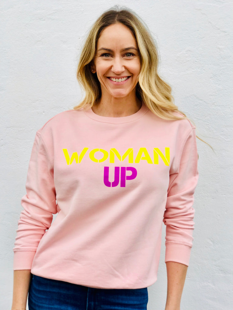 WOMAN UP SWEATER - PEACH