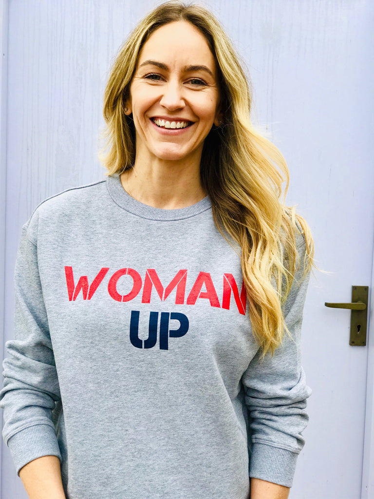 WOMAN UP SWEATER - MARLE GREY