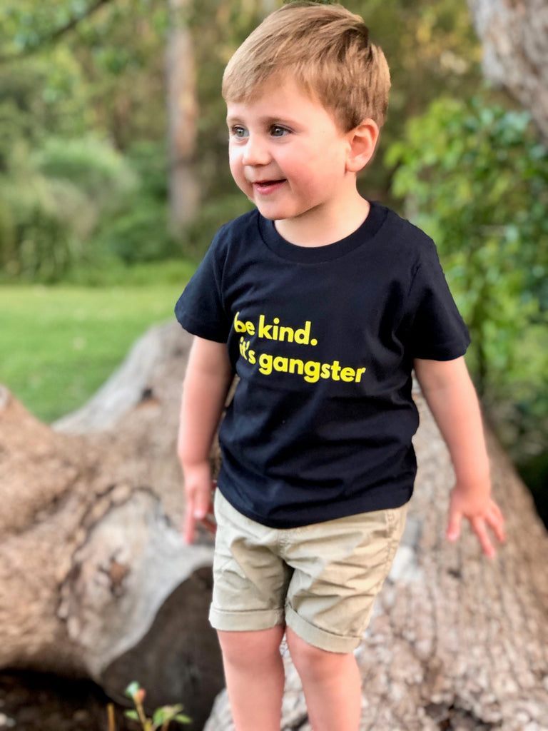 Be Kind. It's Gangster tee KIDS - Navy