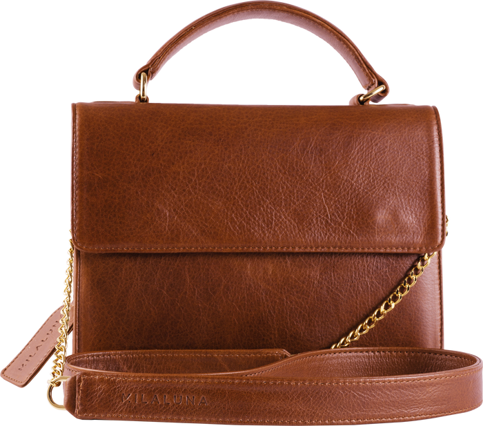Brown Leather Handle Bag
