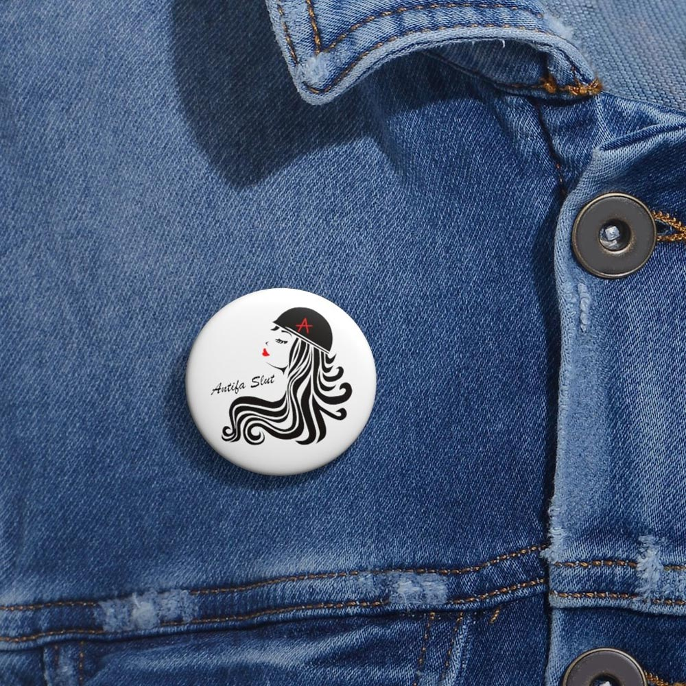 antifa slut pin