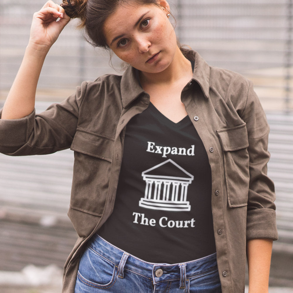 EXPAND THE COURT V-Neck Tee