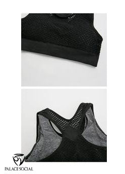 Double Over - Neon Mesh Sports Bra