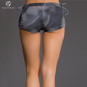 Carbon Tie - Sexy Low Rise Yoga Shorts