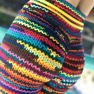 Knitted Print Leggings
