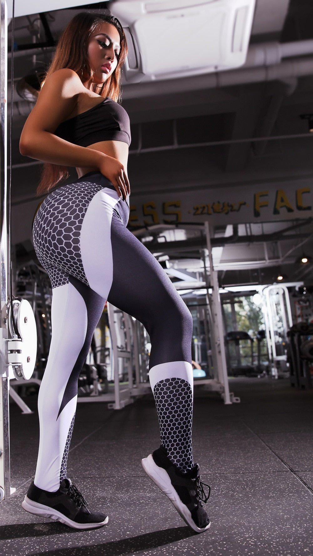 Honeycomb Print Leggings