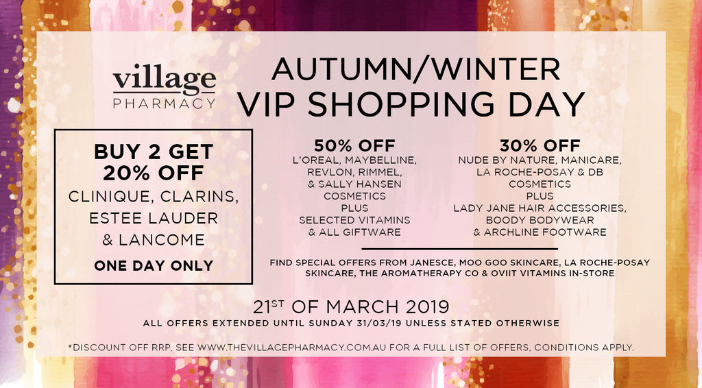 Autumn/Winter Shopping Day at Village Pharmacy