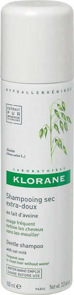 Klorane Gentle Dry Shampoo with Oat Milk 1.06 Ounce Travel Size