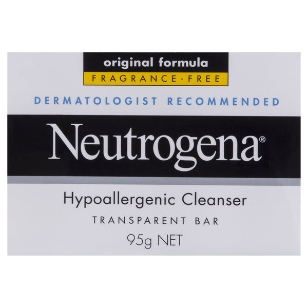 Neutrogena Hypoallergenic Cleanser Transparent Bar 95g