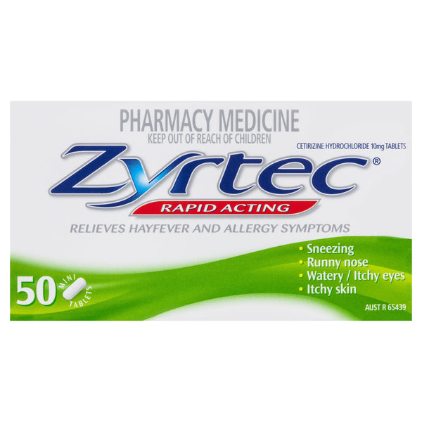 Zyrtec Rapid Acting 50 Mini Tablets