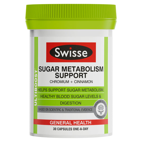 Swisse Ultiboost Sugar Metabolism Support 30 capsules