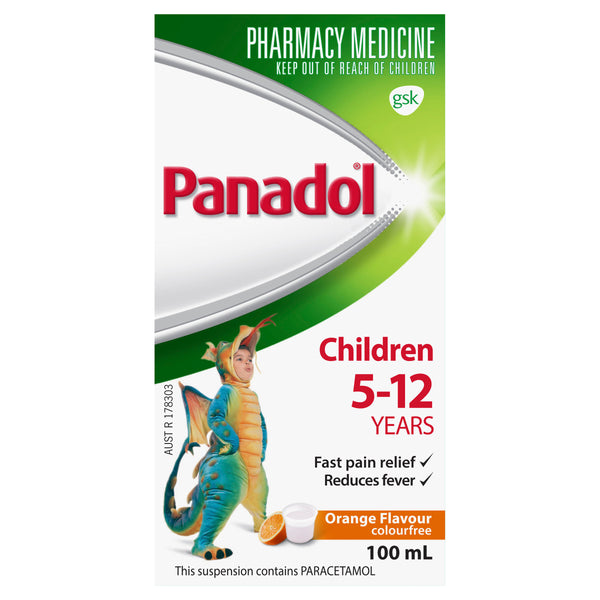 Panadol Child 5-12Yr Orange - 100ml