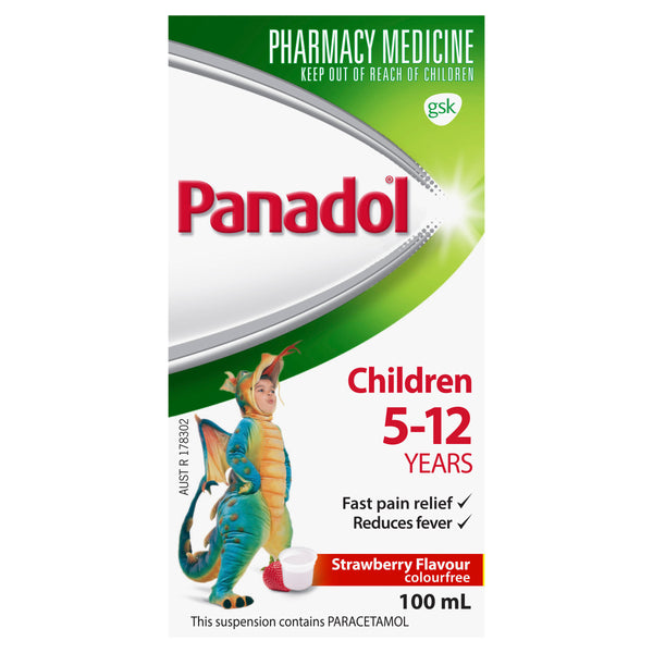 Panadol Child 5-12Yr Strawberry - 100ml