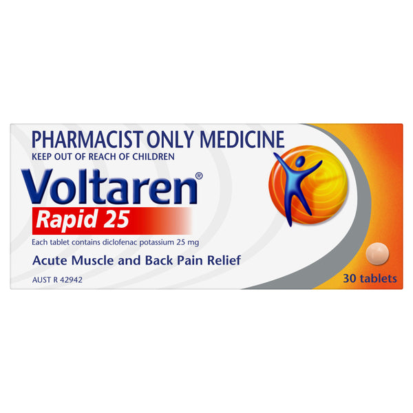 Voltaren Rapid 25, 30 tablets (pain relief)