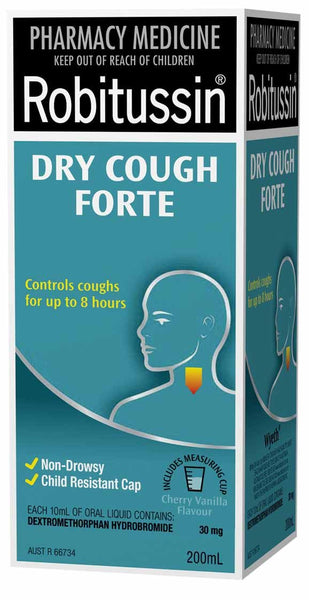 Robitussin Dry Cough Forte Syrup - 200ml