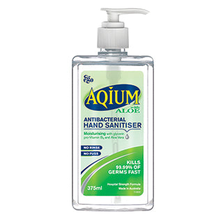 Aqium Hand Sanitiser Aloe - 375mL