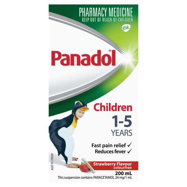 Panadol Child 1-5Yr Strawberry - 200ml