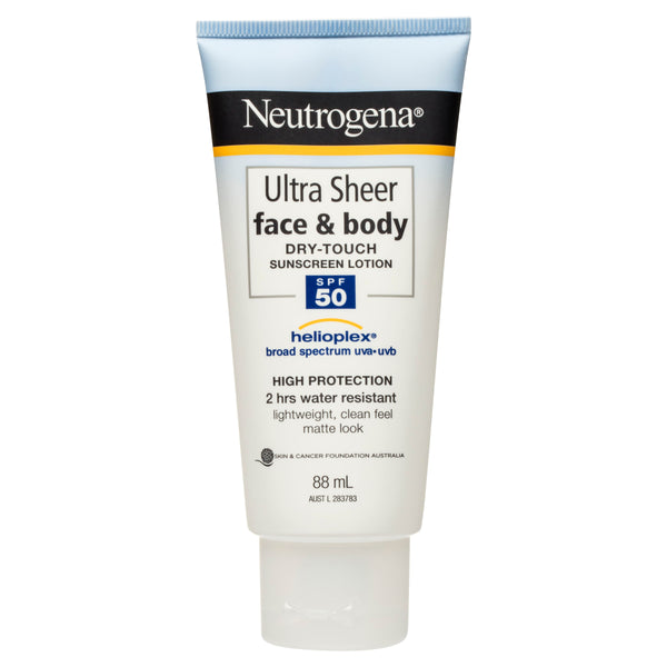 Neutrogena Ultra Sheer Face & Body Dry Touch Sunscreen Lotion SPF50 88mL