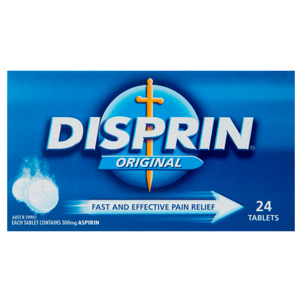 Disprin Original Fasting Acting Pain Relief Tablets 24 Pack