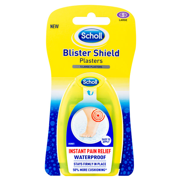 Scholl Blister Shield Plaster Waterproof Instant Pain Relief Large 5 Pack
