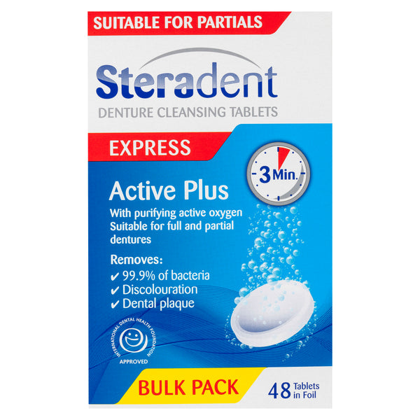 Steradent Active Plus Denture Cleansing Tablets 48 Pack