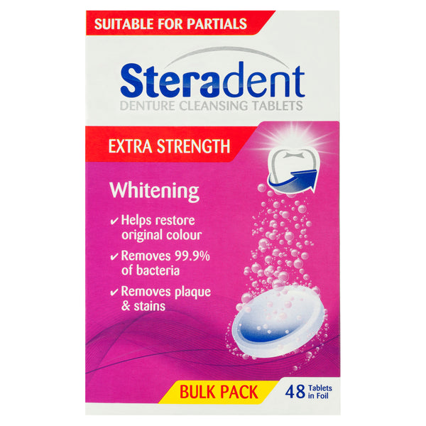 Steradent Denture Cleansing Tablets Arctic Tablets 48 Pack