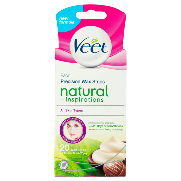 Veet Precision Face Wax Strips for Sensitive Skin 20 Pack