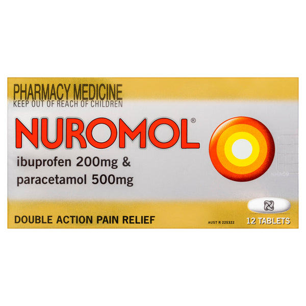 Nuromol Pain Relief Tablets 12 Pack