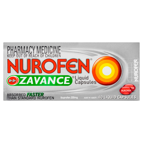 Nurofen Zavance Liquid Capsules Pain Relief 40 Pack