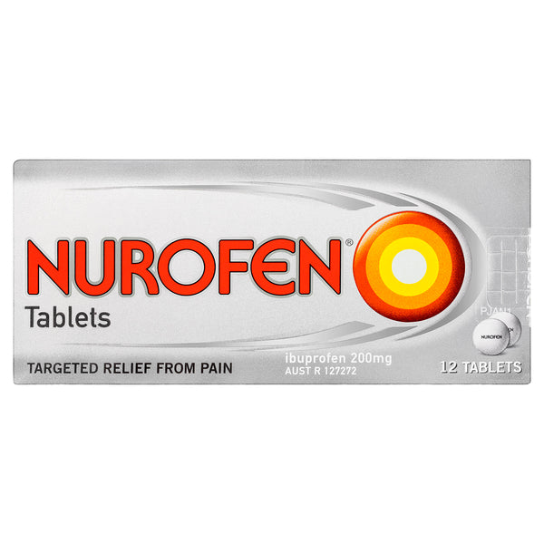 Nurofen Tablets Pain Relief 200mg 12 Pack