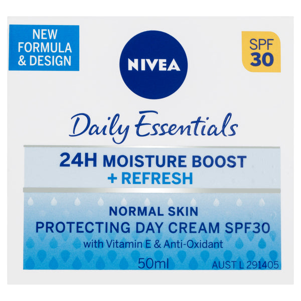 Nivea Daily Essentials 24H Moisture Boost + Refresh Protecting Day Cream SPF30 50mL