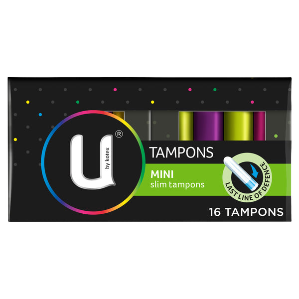 U By Kotex Mini Slim Tampons, 16 Tampons