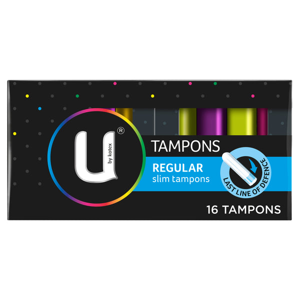 U By Kotex Regular Slim Tampons, 16 Tampons