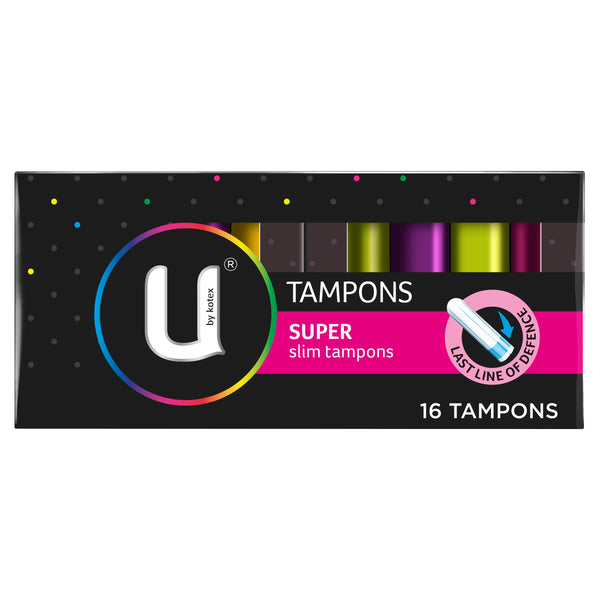 U By Kotex Super Slim Tampons, 16 Tampons
